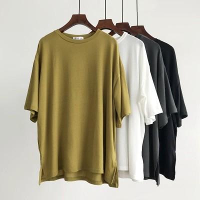 トップス Tシャツ プルオーバー シンプル カジュアル ゆったり感 大人可愛い ラフ キュート オシャレ ガーリー TP-038AU