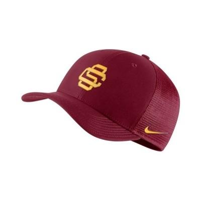 ナイキ 帽子 アクセサリー メンズ USC Trojans Aerobill Mesh Cap Crimson