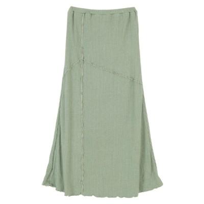 titivate (ティティベイト) レディース リブカットソーメロースカート グリーン M