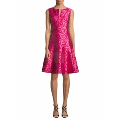 オスカーデラレンタ レディース ワンピース Leopard Print Fit-And-Flare Dress