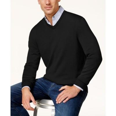 クラブルーム Club Room メンズ ニット・セーター トップス Regular-Fit Solid V-Neck Merino Sweater Deep Black