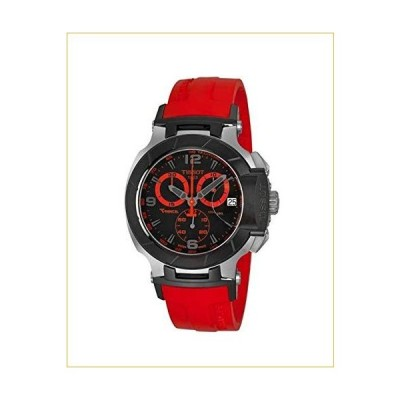 ティソ 腕時計  Tissot Men's T0484172705702 T-Race Two-Tone Stainless Steel Watch with Red Rubber Band 並行輸入品