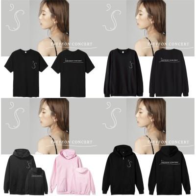 少女時代Taeyeonコンサートs TAEYEON CONCERT週辺 フードスウェット 半袖Tシャツ 韓国ファッション 男女兼用  トップス 韓国応援服(厚手)