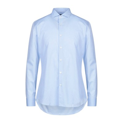 LIU •JO MAN シャツ スカイブルー 40 コットン 100% シャツ