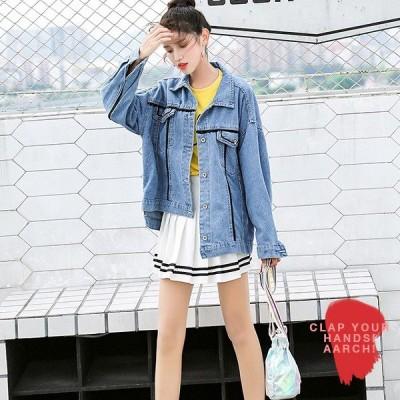 大きいサイズ ジャケット レディース ファッション おおきいサイズ 対応 デニム Gジャン ダメージ リメイク加工 ストーンウォッシュ M L LL 3L 4L 秋冬