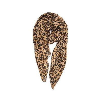 YOUR SMILE Ladies/Women's Lightweight Floral Print/Solid Color mixture Shawl Scarf For Spring Summer season (Leopard 1)【並行輸入品】