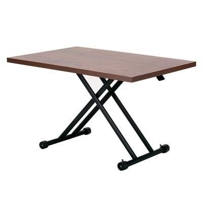 武田コーポレーション ダイニングガス圧昇降式テーブル 120×80×71.5cm ブラウン T7-GDT120BR