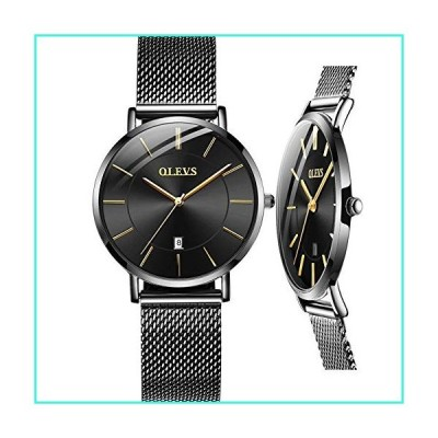 【新品】Women's Thin Watch,Mesh Watch for Lady,Ladies Black Watch,Women's Date Watch,Lady Watch,Fashion Watch for Lady,Women Steel Watch,Women Ste