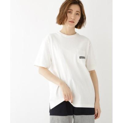 【ベースステーション】 バック サークル ロゴ  半袖  Tシャツ レディース アイボリー 99(FREE) BASE STATION