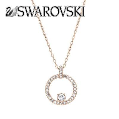 スワロフスキー SWAROVSKI 5202446 クリスタル クリスタルパヴェ サークル ペンダント ネックレス Creativity Circle Rose Gold