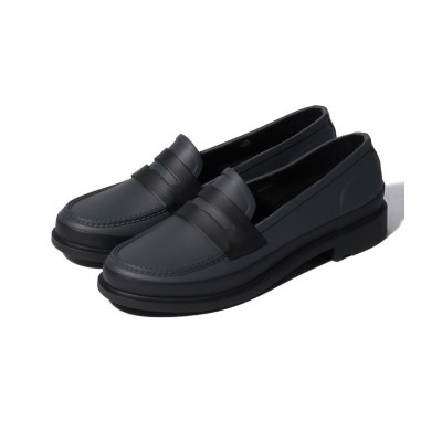 (HUNTER/ハンター)W REF CONTRAST PENNY LOAFERS/レディース グレー
