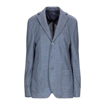 パオローニ PAOLONI テーラードジャケット ブルーグレー 50 リネン 57% / コットン 30% / ポリエステル 13% テーラードジャ
