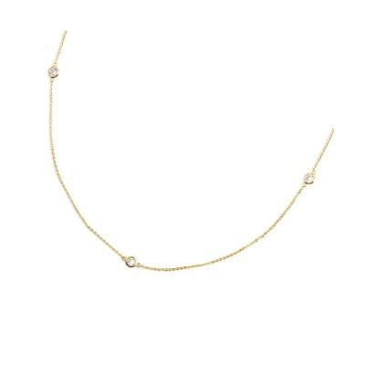 【Creamdot.】煌めくカットラウンドチェーンのショートネックレス ネックレス(ペンダント)