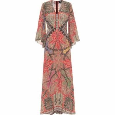 エトロ Etro レディース パーティードレス ワンピース・ドレス Printed silk georgette gown