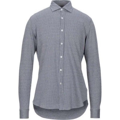 ハリスワーフロンドン HARRIS WHARF LONDON メンズ シャツ トップス Striped Shirt Dark blue