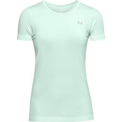 アンダーアーマー Under Armour レディース フィットネス・トレーニング Tシャツ トップス Seamless T-Shirt Seaglass Blue/White/Metallic Sivler