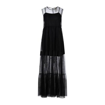 セミクチュール SEMICOUTURE ロングワンピース&ドレス ブラック L ナイロン 100% / コットン / ポリウレタン ロングワンピース