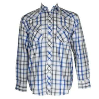 ファッション アウター DBFL Liquido West Hombre Manga Larga Occidental Chasquear Delantero Camisa de
