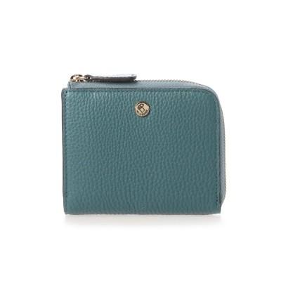 ペレボルサ PELLE BORSA ミニL字ファスナー財布 (ブルーグレー)