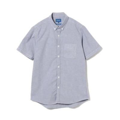 【ビームス メン】 BEAMS / ストレッチ オックス ショートスリーブシャツ メンズ NAVY_CMB M BEAMS MEN