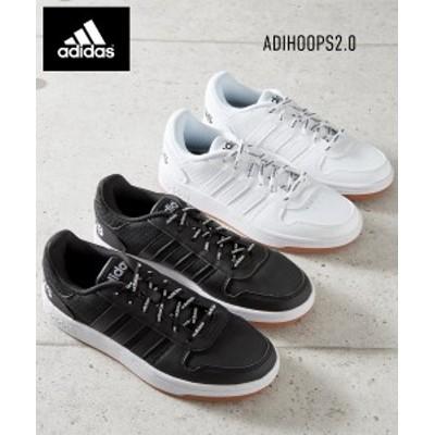 adidas レディース ADIHOOPS2.0 コアブラック/コアブラック×アイアンメタリック/フットウェアホワイト 22.5~26.5cm ニッセン nissen
