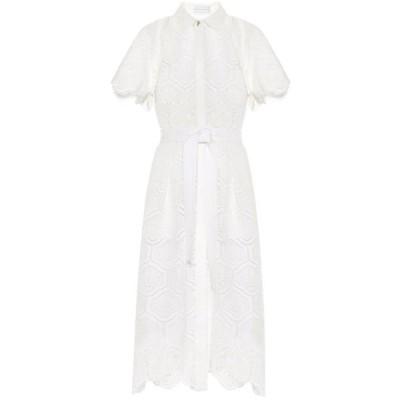 レベッカ ヴァランス Rebecca Vallance レディース ワンピース ミドル丈 ワンピース・ドレス Savannah cotton midi dress Ivory