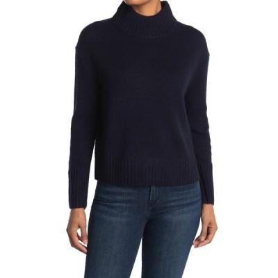 360カシミア レディース ニット&セーター アウター Lyra Cashmere Mock Neck Sweater NAVY