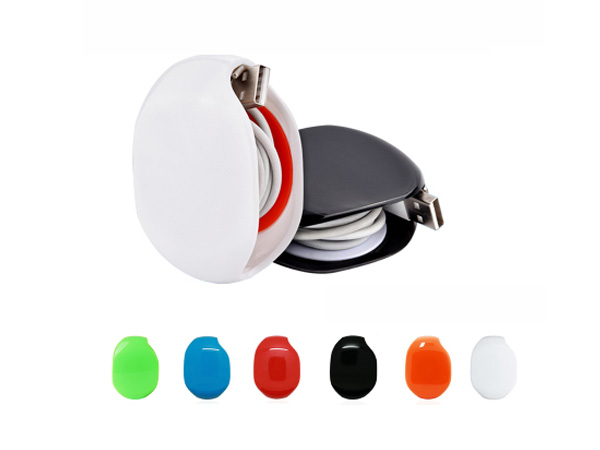 按壓式自動數據線收納器/集線器(1入)【D020833】顏色隨機出貨