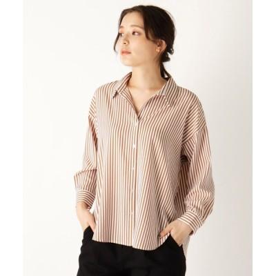 SOUP / 【大きいサイズあり・13号】ストライプスキッパーシャツ WOMEN トップス > シャツ/ブラウス