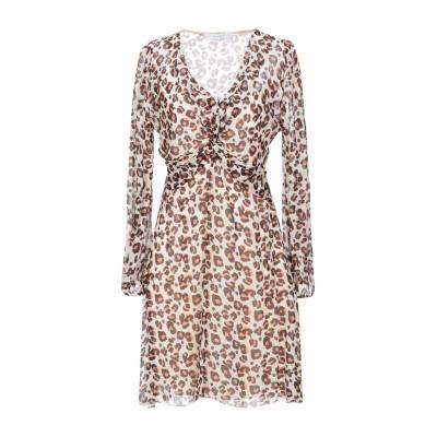 カオス KAOS ミニワンピース&ドレス ベージュ 40 レーヨン 100% ミニワンピース&ドレス
