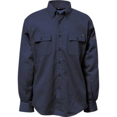キャタピラー メンズ シャツ トップス Flame Resistant Work Shirt with Stretch Panel Fr Navy