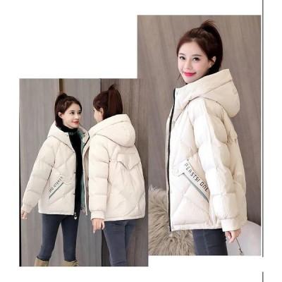 ダウンコート ダウンジャケット 冬 ショートダウンコート コートレディース 中綿コート 無地 フード付き