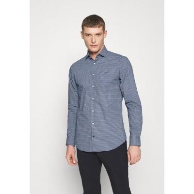 トミー ヒルフィガー シャツ メンズ トップス PRINT SLIM FIT - Shirt - blue