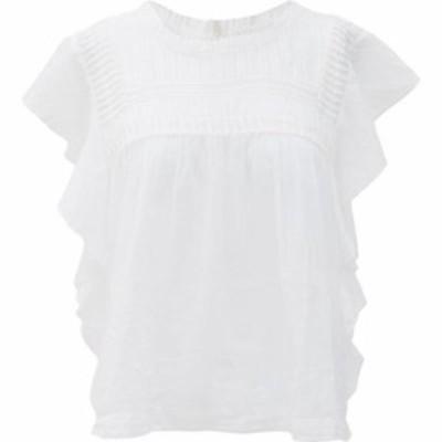 イザベル マラン Isabel Marant Etoile レディース ブラウス・シャツ トップス Layona pintucked cotton blouse White
