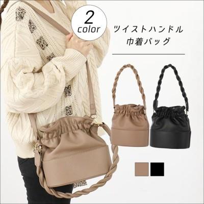 ANAP ツイストハンドル巾着バッグ / CHILLE / 559-5259 グレー  レディース