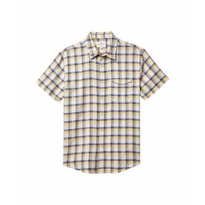 ラッキーブランド シャツ トップス メンズ Plaid Monroe Short Sleeve Shirt Yellow Plaid