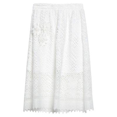 ダーリン DARLING London 7分丈スカート ホワイト 10 ポリエステル 100% 7分丈スカート