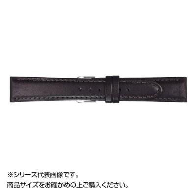 MIMOSA(ミモザ) 時計バンド EMカーフ 16mm ブラック (美錠:銀) CEM-A16 バンド