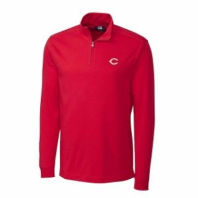 Cutter & Buck カッター アンド バック スポーツ用品  Cutter & Buck Cincinnati Reds Red Belfair Half-Zip Pullover J