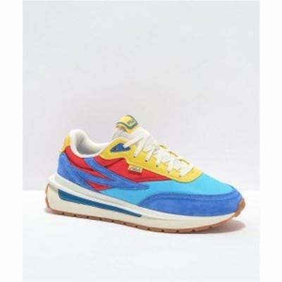 フィラ FILA レディース スニーカー シューズ・靴 Renno Atomic Blue. Red and Yellow Shoes Blue