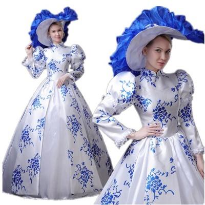 宮廷服ドレス ロングドレス パーティー 舞台ステージ 衣装 劇場 中世貴族風