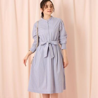クチュール ブローチ Couture brooch 【WEB限定サイズ(LL)あり】ドビーストライプシャツワンピース (サックス)