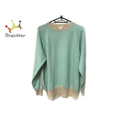 デミリー demylee 長袖セーター サイズS メンズ ライトグリーン×ベージュ  値下げ 20200426