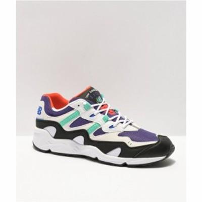 ニューバランス NEW BALANCE メンズ スニーカー シューズ・靴 lifestyle 850 whitem purple and teal shoes White