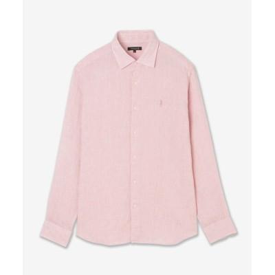 【マッキントッシュ ロンドン】 リネンレギュラーカラーシャツ メンズ ピンク L MACKINTOSH LONDON