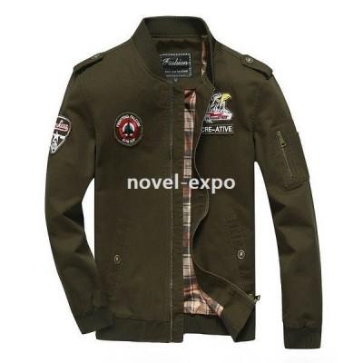ジャケットコートメンズミリタリーフライトジャケット大きいサイズフィールド米軍欧米風お兄系アウター