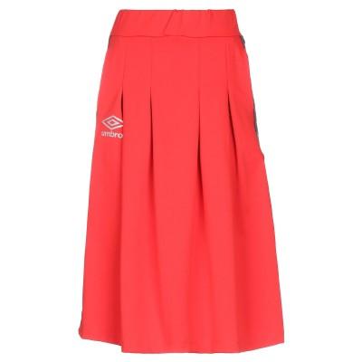 UMBRO ひざ丈スカート レッド S ポリエステル 100% ひざ丈スカート