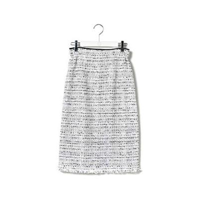 (ラヴィソン ラヴィエール) Ravissant Laviere ファンシーツイードタイトスカート (ホワイト系4 38)