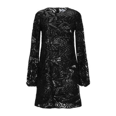 パロッシュ P.A.R.O.S.H. ミニワンピース&ドレス ブラック XXS ポリエステル 100% / ポリ塩化ビニル ミニワンピース&ドレス