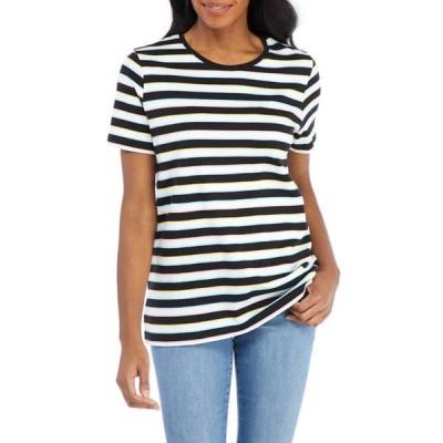 キム ロジャース レディース Tシャツ トップス Women's Perfectly Soft Mariner Stripe T-Shirt